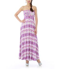 Take a look at this Orchid Mint Strapless Maxi Dress by Classique on #zulily today!