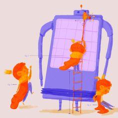 Mamá no me cree, dice que son puros inventos míos, pero es verdad. Un día cabalgando por las llanuras de mi reino encontré un extraño aparato, mi amigo el robot.  #illustration #ilustradorescolombianos#illustrationartist #childrenbooks#illustration_daily