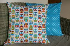 Rainbow Owl Cushion Cover by BlossomvioletCrafts on Etsy