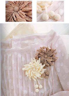 Crocheted flowers - Annie Mendoza - Álbuns da web do Picasa...free diagram for making this brooch!