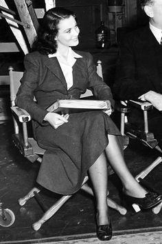 Vivien Leigh on the set of Waterloo Bridge