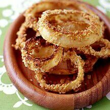 Enjoy a tasty and healthy recipe. Learn how to make Oat-Baked Onion Rings. Baked Onion Rings, Onion Rings Recipe, Ww Recipes, Great Recipes, Favorite Recipes, Skinny Recipes, Recipies, Healthy Recipes, Baked Oats