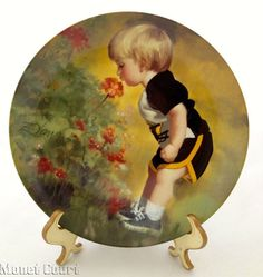 Donald Zolan Collector Plate Grandmas Garden Hand by monetcourt, $16.50