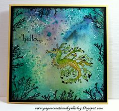 Design by Ryn stamps.  Background with watercolour paints, Dylusions & Distress Inks.