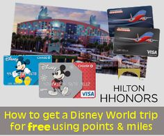 """I've never tried this ... but for those of you with Credit Card points or miles, you might want to check out """"How to get a 7 day, 6 night Disney World trip for free using points and miles"""""""