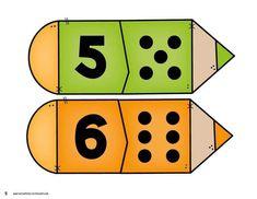 Back to School Number Matching - Kindergarten Math Centers Preschool Math Games, Numbers Preschool, Learning Numbers, Kindergarten Worksheets, Teaching Math, Toddler Activities, School Border, Math Groups, Learning Arabic