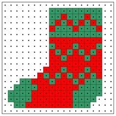 Christmas stocking perler bead pattern