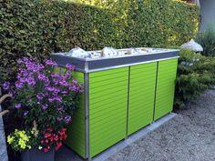 m lltonnenbox mit integrierter paketbox und auf wunsch mit. Black Bedroom Furniture Sets. Home Design Ideas