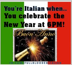 You know you're #Italian when...