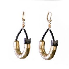 Scaletails Earrings Gold now featured on Fab.