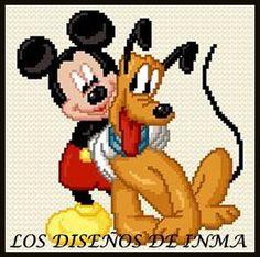 PDF Gráfico Punto de Cruz, Disney 83, Disney Punto de Cruz, Disney, Disney Cross Stitch Pattern