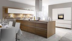 Light wood and white modern quality kitchen by BauFormat, Toronto @ Improve Mall 7250 Keele Street, Unit: 44