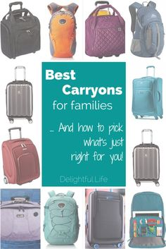 Best Carryons for families - and how to decide what is right for you!