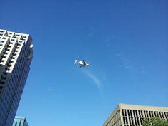 Over downtown Sacramento
