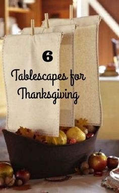 The Thanksgiving holiday is such a fun time for decorating! Setting the Thanksgiving table sets the mood for the whole day. Use any one of these 6 ideas for your table centerpiece and you'll be set for...