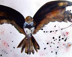 Bird Painting Bird Fine Art Bird Wall Art Bird Drawing Home Decor Art Animal