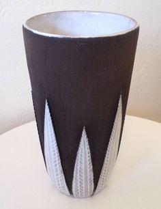 Upsala Ekeby Sweden Large Paprika Vase Ana-Lisa Thomson c. 1950 Modern