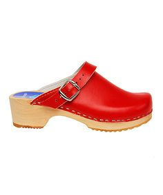 Cape Clogs Red Leather Clog - Kids on #zulily today!