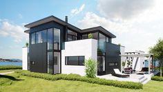 moderne enebolig : Modern Modular-constructed Home.
