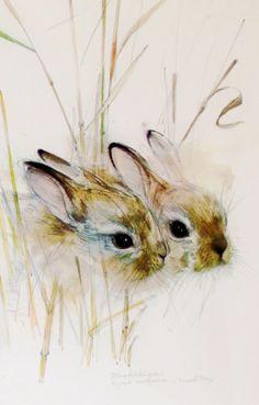 Bunnies by Danish artist Harekelinger
