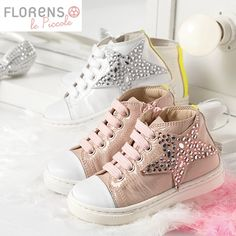 #Stars #Sneakers #pink #white #Florens #shoes #madeInItaly