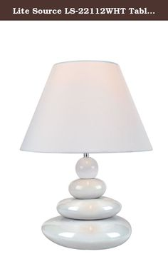 Lite Source LS-22112WHT Table Lamp, White Ceramic Body with Fabric Shade. White Ceramic Body/Fabric Shade. E27 Socket. Shade Dimensions: 8 High, Top: 6, Bottom: 12. Overall Dimensions (H by W by D): 15.75 by 12. Requires CFL 13-Watt bulb Lite-Source, Inc. specializes in creating lighting products that can be used in any home. Their products include a range of kids products to chandeliers to task specialty lights, all the while providing an excellent value. The Lite-Source, Inc. catalog is...
