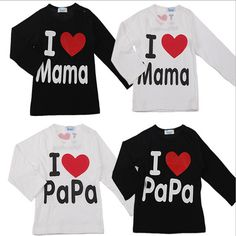 I Love Mama Papa Shirt //FREE Shipping // https://mommy-shop.com/product/i-love-mama-papa-shirt/    #mommyshop #baby #pregnant