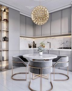 home accents bathroom dining room lighting, dining room lamp ideas, dining room decor, dining room designs Modern Kitchen Tables, Modern Kitchen Design, Interior Design Kitchen, Kitchen Dining, Rustic Kitchen, Modern Design, Grey Interior Design, Kitchen Cabinets, Gray Cabinets