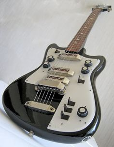 Soviet-era guitar made by Belarusian Musical Instruments Factory, mid-80s | via guitarz