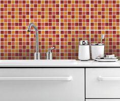 Vinilo Para Azulejos Terracota En Mosaico 10 X Mosaic Wall Tiacksplash