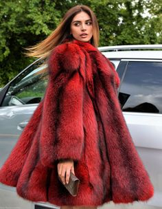 "fur-fetish-slave: "" fur-fetish-slave: "" furjessie: "" What a scrumptious dyed fox. If I wore it would you eat me up? From Furs Factory Outlet. "" Would loooooooooove this coat!!! "" Love to be her!!! """