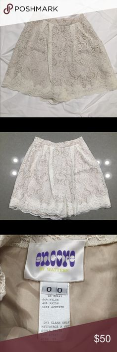Wedding white lace shorts. Encore by Watters Brand new never worn lace ivory shorts. Perfect for bridal shower or honeymoon Shorts