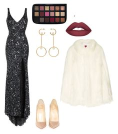 A fashion look from January 2018 featuring red carpet gowns, faux fur cape and patent leather pumps. Browse and shop related looks. Polyvore Dress, Polyvore Outfits, Party Dress Outfits, Cute Outfits, Red Carpet Gowns, Mac Duggal, Winter 2017, Fashion 2017, Christian Louboutin