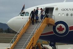 The Royals arrive in Canada