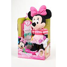 Minnie Mouse Bow-tique Bunch O' Bows  Minnie is famous for her bows! This Minnie Mouse Bow-tique Bunch O' Bows plush figure comes with 6 interchangeable bows so you can style her outfit in so many ways. They stick all over her and you can wear them in your hair too!