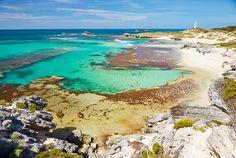 Light house on Rott Nest Island, Western Australia...