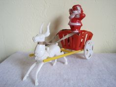 Vintage Santa & Rudolph