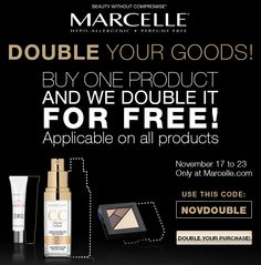 [WEB OFFER] November 17 to 23, 2014 DOUBLE YOUR GOODS! Use code NOVDOUBLE at checkout.