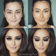 Konturieren, Hervorheben und Backen in Ihrem Make-up - Makeup Contour Beauty Make-up, Beauty Hacks, Hair Beauty, Beauty Tips, Beauty Skin, Beauty Care, Allure Beauty, Luxury Beauty, Beauty Ideas