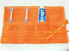 Porta escova e pasta de dente