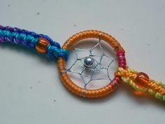 Handmade Woven Dream Catcher  Bracelet  by TheForestNymph on Etsy, $3.50
