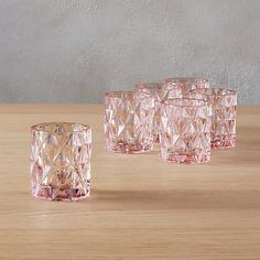Shop set of 6 betty pink tea light candle holders. A modern angle on a retro classic, this multifaceted glass form illuminates the warm glow of soft pink in every direction. Pink Candle Holders, Unique Candle Holders, Unique Candles, Tealight Candle Holders, Tea Light Candles, Tea Light Holder, Tea Lights, Beautiful Candles, Pink Home Accessories