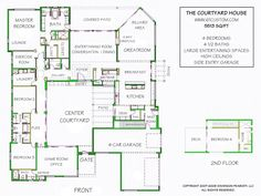 LOVE this courtyard house plan.  Needs a few tweaks but very close to what I had in mind.