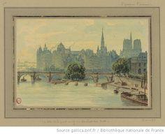 L'ile de la Cité et le Pont-Neuf vu du pont des Arts  V. Blatter, c. 1880