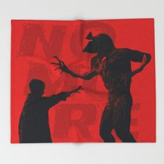 NO MORE - BLOOD Throw Blanket