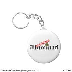 Illuminati Confirmed Basic Round Button Keychain