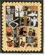 Happy Hauntings Block of the Month.  Starts Oct. 2015. from stitchinheaven.com
