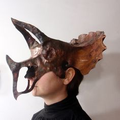 The Triceratops mask of copper doom