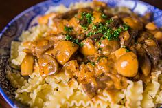 I think beef stroganoff is a great weeknight recipe that isn't too complicated to make, but still looks impressive to serve.