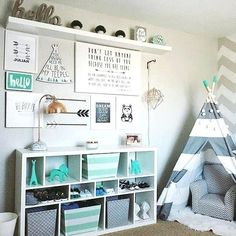 20 Fantastic Kids Playroom Design Ideas – My Life Spot Toddler Rooms, Baby Boy Rooms, Baby Bedroom, Kids Bedroom, Bedroom Ideas, Kids Rooms, Bedroom Inspo, Small Rooms, Toddler Girls